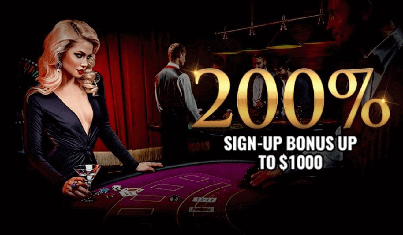 MYB Casino 200% Sign up bonus up to $1000