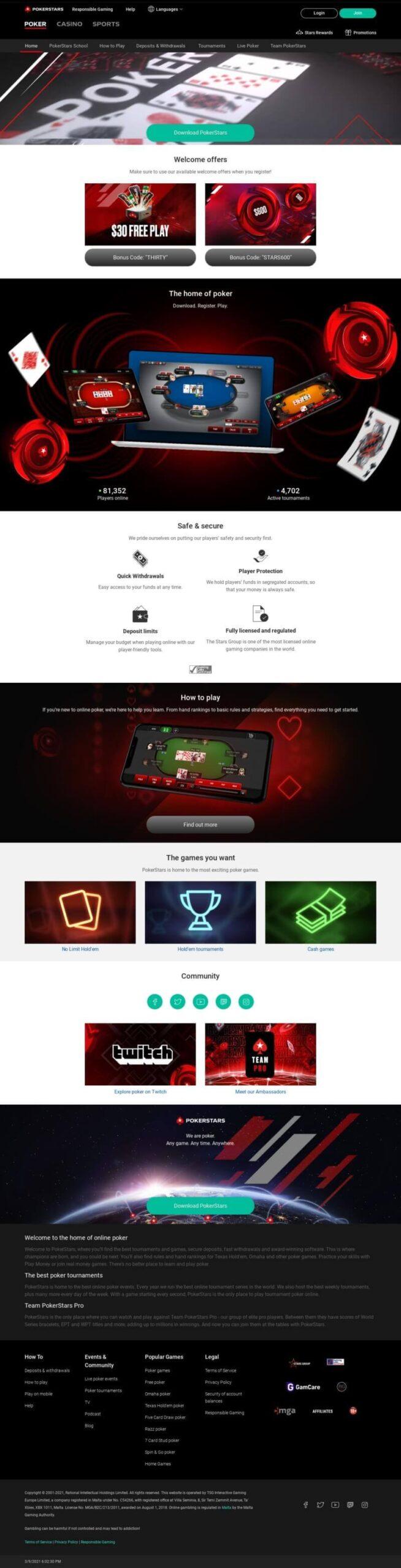 Play Online Poker Games at PokerStars