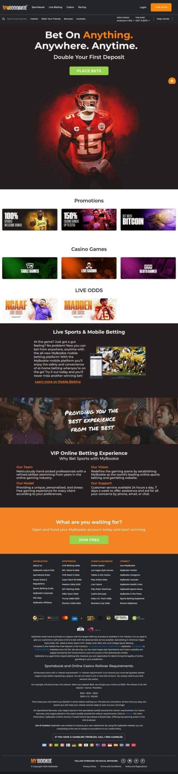 Bet USA Sports, Bitcoin Sportsbook Sign Up Bonus - Vegas Week 8 NFL - mybookie.ag