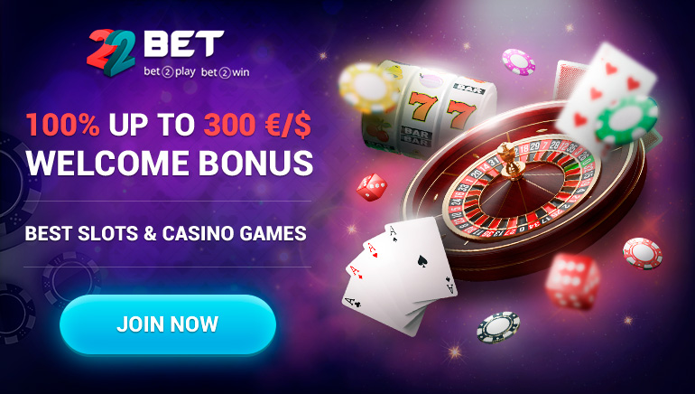 22bet online casino welcome bonus