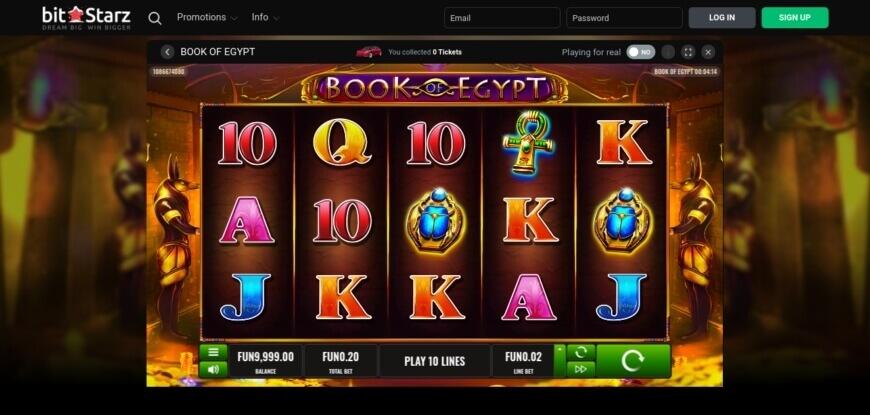 BitStarz Casino Book of Egypt Slot