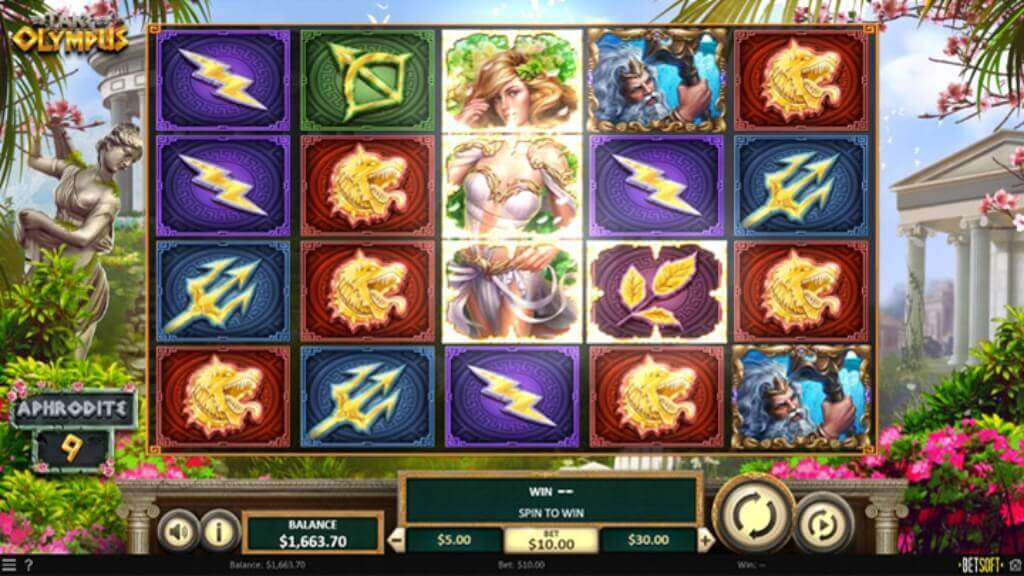 Video Slot Take Olympus Wrath of Abundance Feature