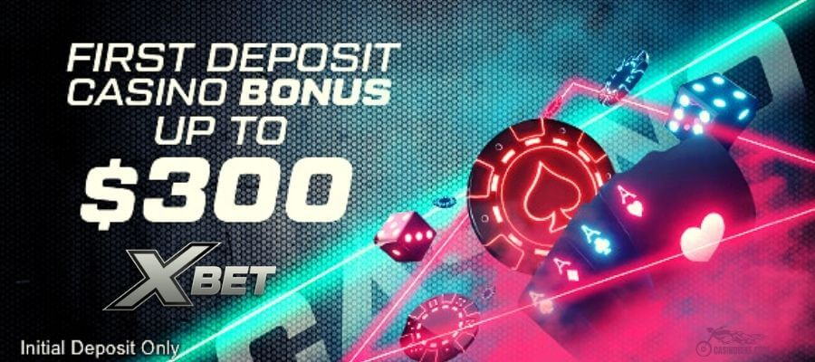 XBet First Deposit Casino Bonus up to $300