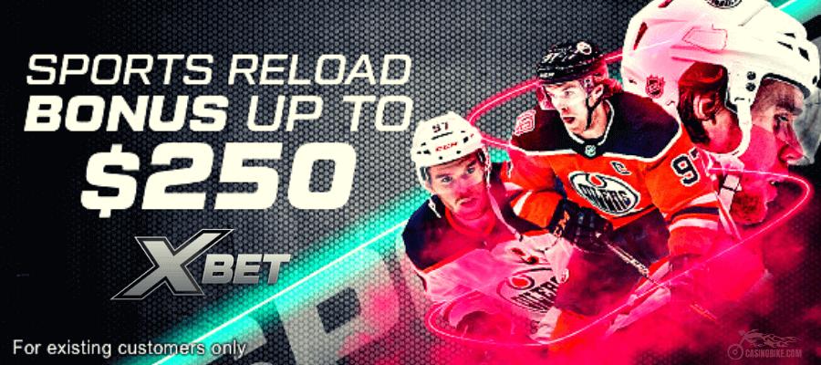 XBet Sports Reload Bonus up to $250