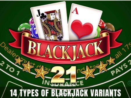 14 Types of Blackjack Variants of Great Interest