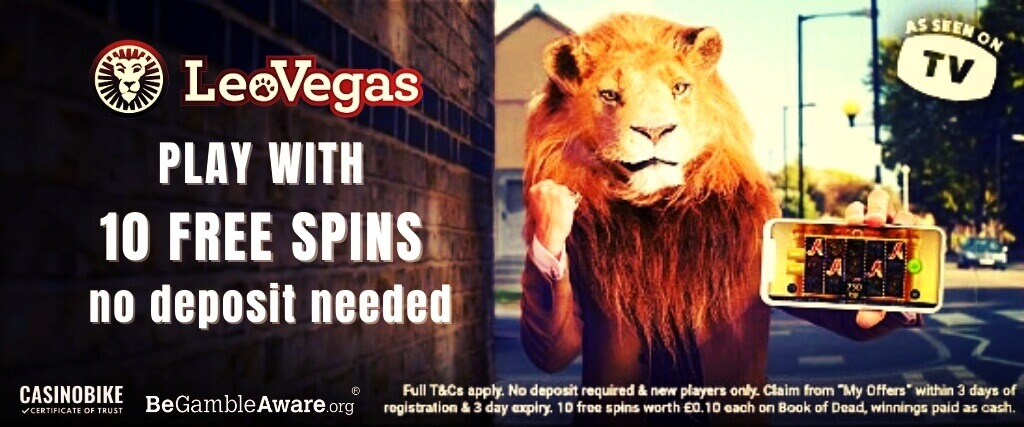 LeoVegas Casino No Deposit 10 Free Spins