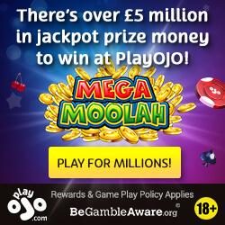 PlayOJO Casino Jackpot