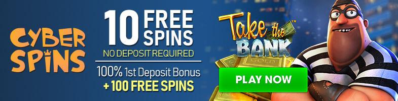 CyberSpins Casino Bonus 10 Free Spins No Deposit