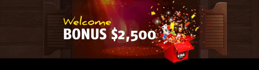 Red Stag Casino Welcome Bonus $2,500