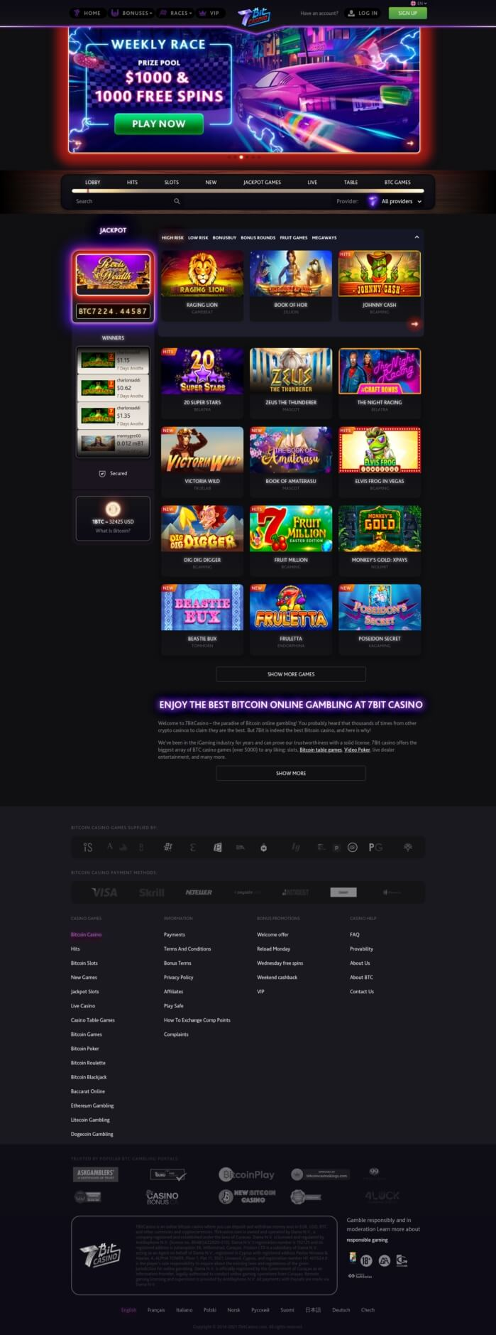 7Bit Bitcoin Casino Review