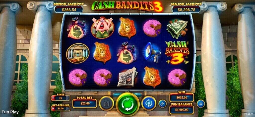 Cash Bandits 3 Online Slot by RTG Review