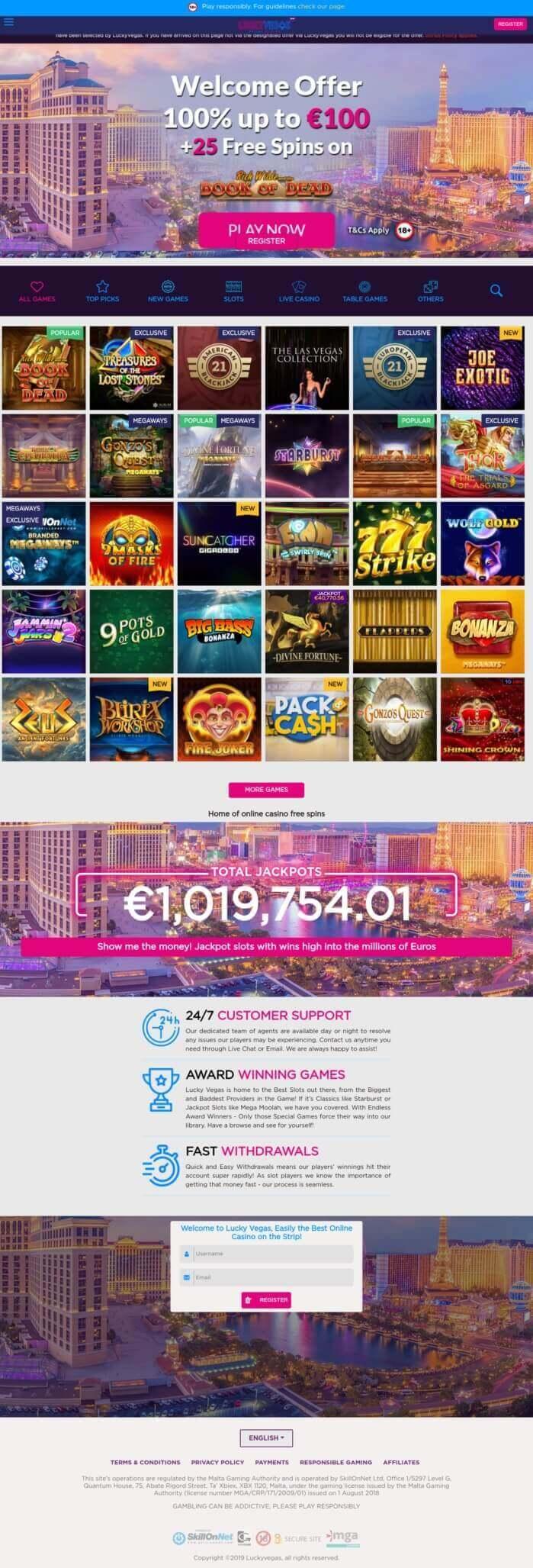 True Players Choose Online Casino Lucky Vegas Review