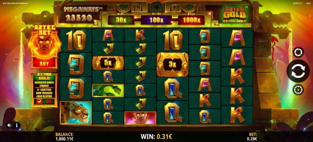 Aztec Gold Extra Gold Megaways Slot Review