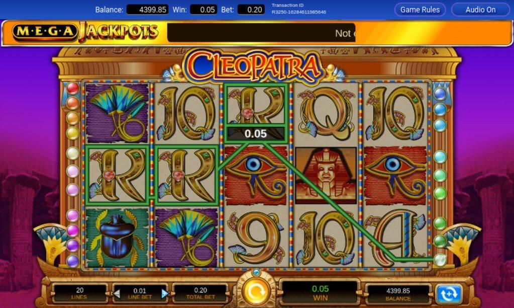 Cleopatra Mega Jackpots Slot Review