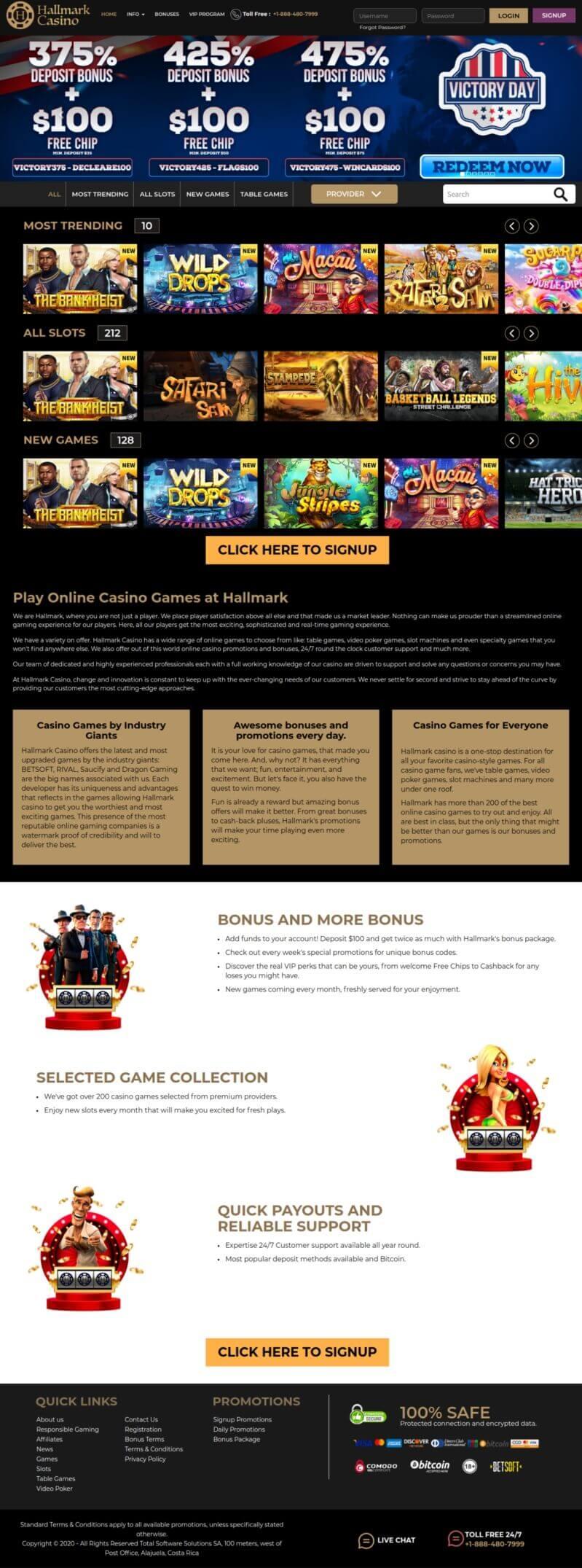 Hallmark Casino Review 2021