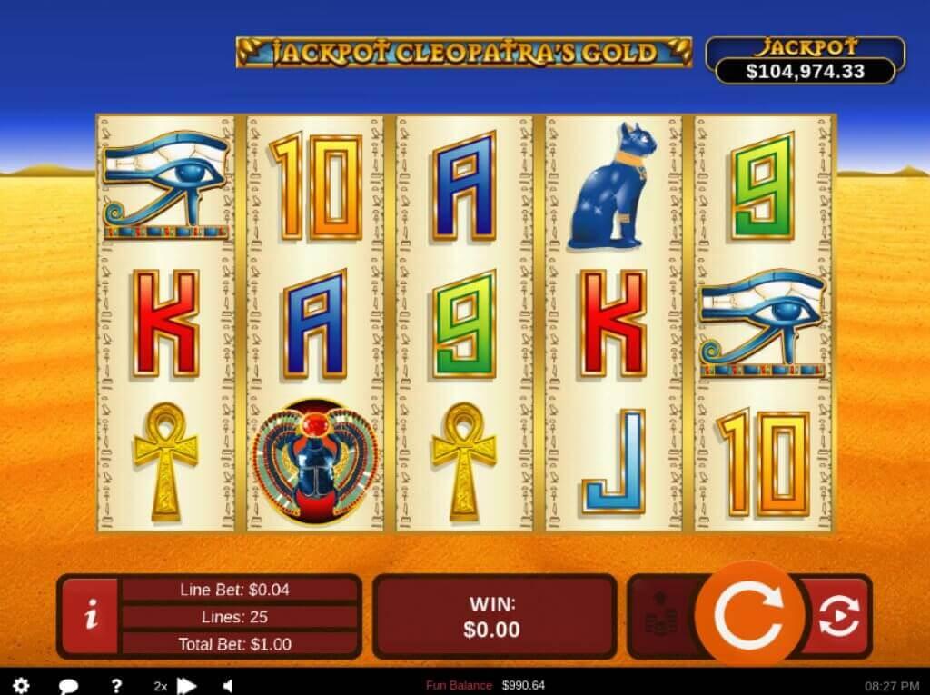 Cleopatra's Gold Progressive Slot Review