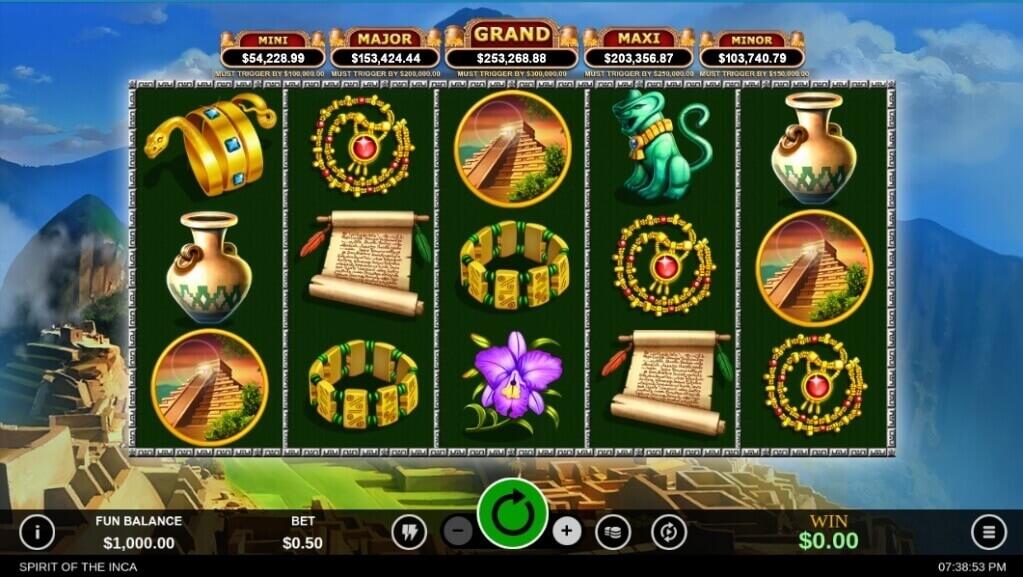 Spirit of the Inca Progressive Slot Review